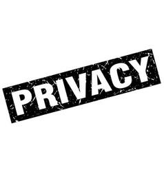 Square grunge black privacy stamp vector