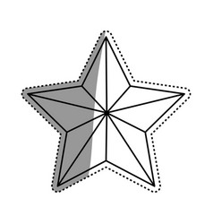 star shape decoration vector image
