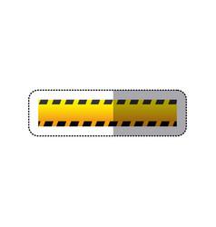 Sticker striped hazard tape line construction vector