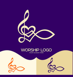 the fish of jesus and the musical note vector image vector image