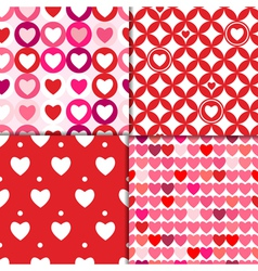 valentine patterns pink vector image