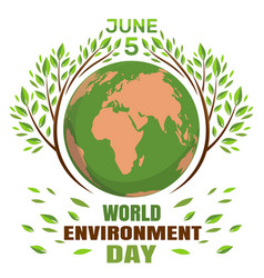 world environment day concept june 5th vector image vector image