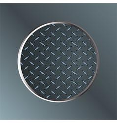 Metallic diamond border on metal plate vector
