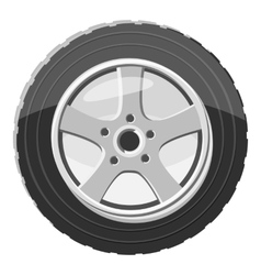 Car wheel icon gray monochrome style vector