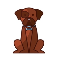 Cute dog mascot isolated icon vector