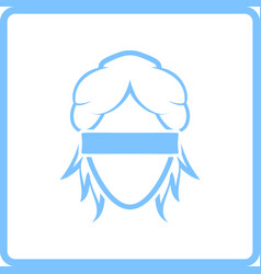 Femida head icon vector