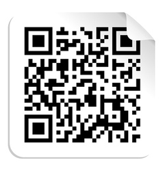 Qr code label concept vector