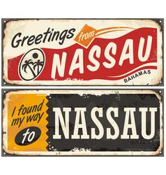 Nassau bahamas artistic concept vector