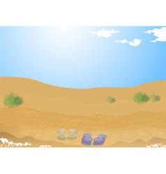 Beach sand vector