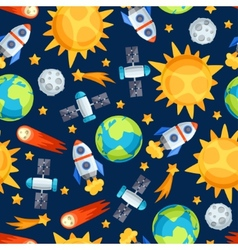 Seamless pattern of solar system planets and vector