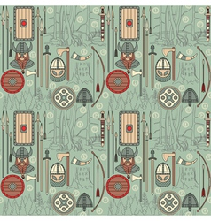 Seamless viking pattern 03 vector