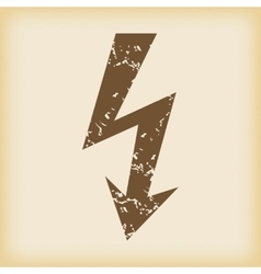 Grungy lightning icon vector
