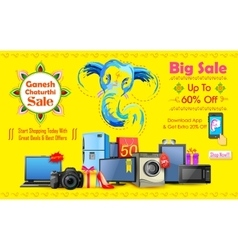Happy ganesh chaturthi sale offer vector