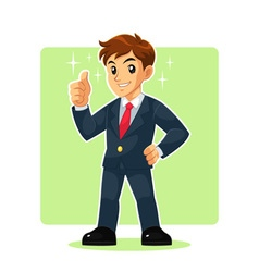 Businessman mascot character vector