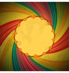 vintage swirl background vector image