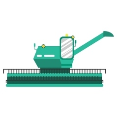 Agricultural combine flat style farm machine vector