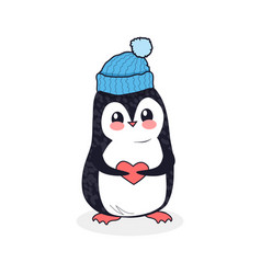 Animal pinguin design flat vector