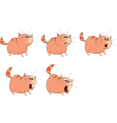 Cartoon Character Cute Cat for Computer Game vector image vector image