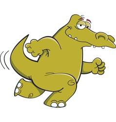 Cartoon Running Alligator vector image vector image