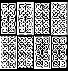 Celtic style endless knot tile vector