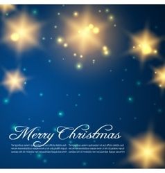 Christmas background with golden shining stars vector