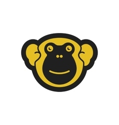 Cute monkey logo vector