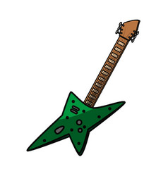 Electric guitar instrument vector