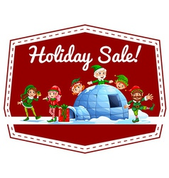 Holiday sale label vector image vector image
