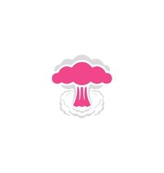 Nuclear icon vector