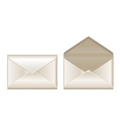 Open and closed envelopes vector image vector image