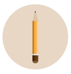 orange thick pencil vector image vector image