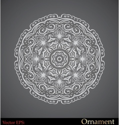 ornamental circle template vector image vector image