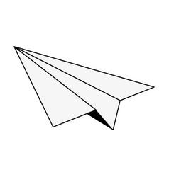Paper plane icon image vector