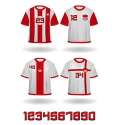 Soccer jerseys vector image vector image