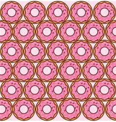sweet donuts pattern vector image vector image