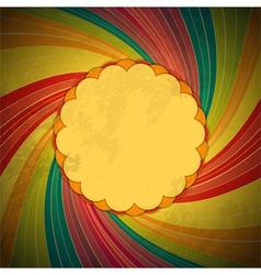 vintage swirl background vector image vector image