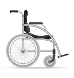 wheelchair for disabled people stock vector image