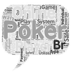 Why Online Poker Websites Are A Safe Way To Play vector image
