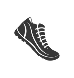 Sport shoes running fitness icon graphic vector
