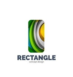 rectangle logo vector image