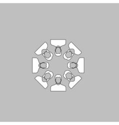 Teamwork computer symbol vector image