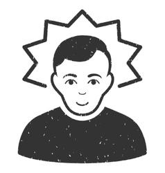 Inventor grainy texture icon vector