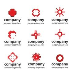 red medical logo vector image