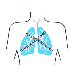 icon asthma chain vector image
