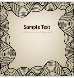 Abstract background with hand drawn frame vector