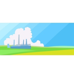 Horisontal factory landscape vector