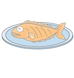 Fried fish vector