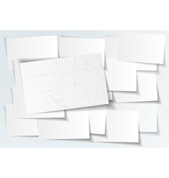 Abstract paper sticker on white background vector image