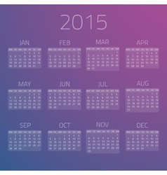 Gloss calendar 2015 background vector