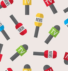 Seamless pattern - journalism live news news of vector